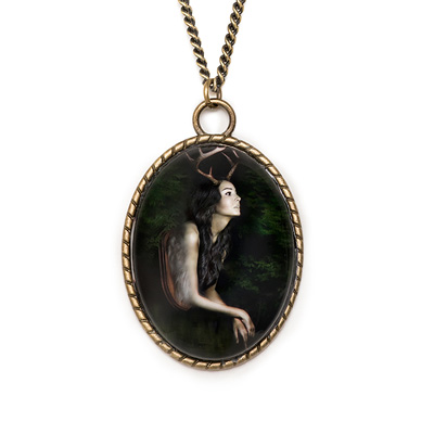art cameo necklace